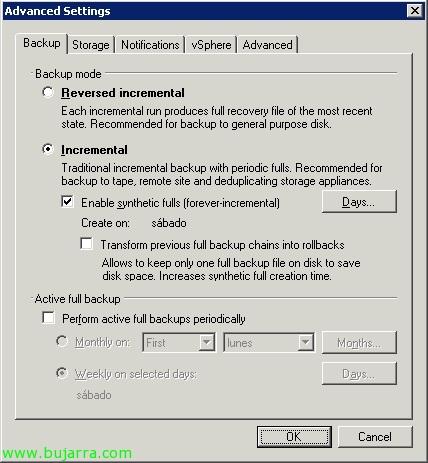 FAQ: Veeam Backup con backups a cinta