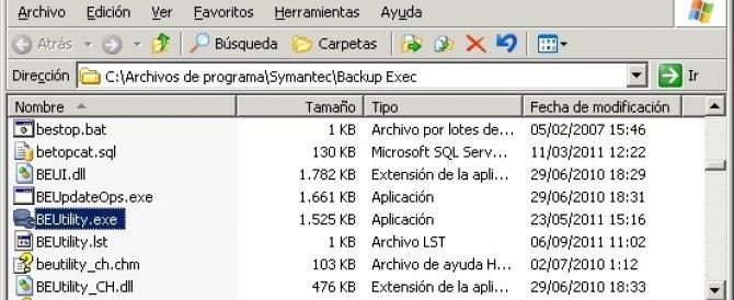 FAQ: Migrando la BD de Symantec Backup Exec