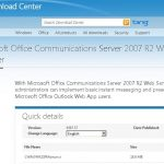 Integrando Lync Server 2010 con OWA