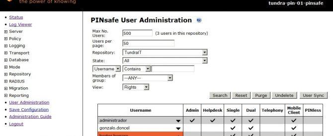 PINsafe – Configuración básica 2