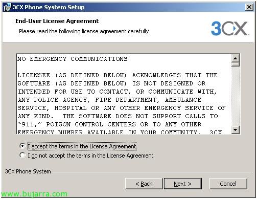 Instalación y configuración de centralita VoIP 3CX con Gateway Linksys SPA3102