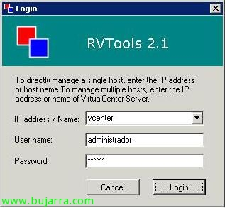 Usando RVTools para facilitar nuestra administración virtual