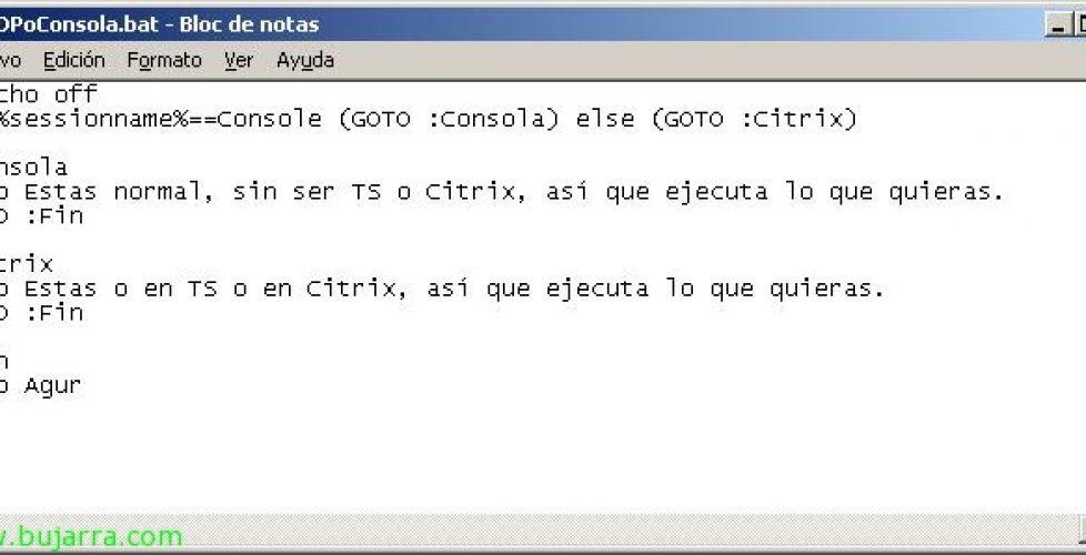 Script para ejecutar cuando estás en Citrix o Terminal Server pero no en Local (o viceversa)
