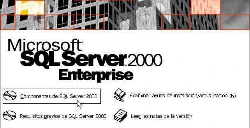 Instalación de un servidor SQL Server 2000