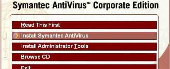 Instalación y configuración de Symantec Corporate Edition v. 10