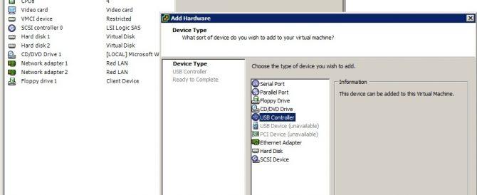 Uso de dispositivos USB en VMware ESX 4.1 o VMware ESXi 4.1