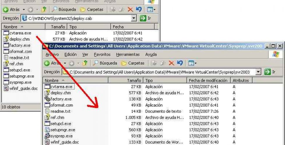 Creando plantillas de máquinas virtuales en VMware VirtualCenter
