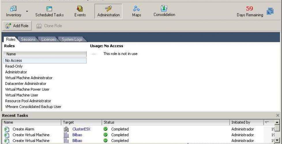 Configurando Perfiles en VMware VirtualCenter