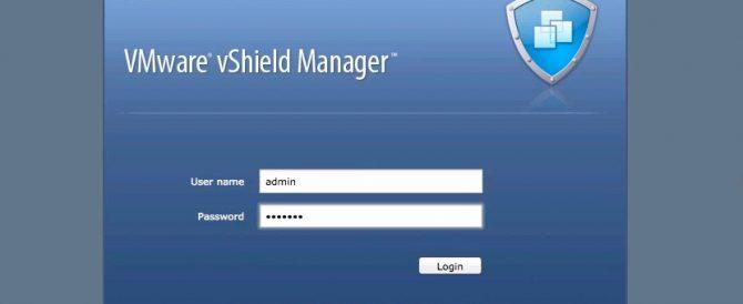 Instalación de vShield Manager