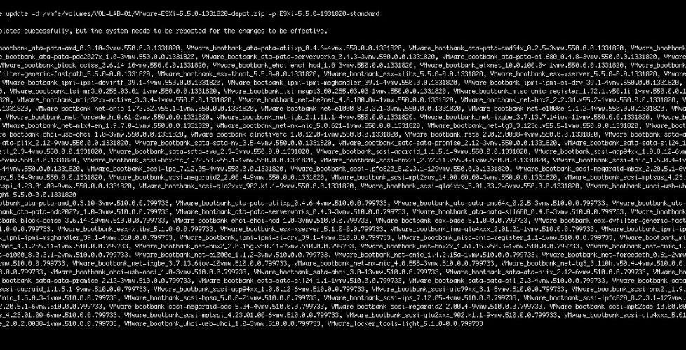 Actualizando los hosts a VMware ESXi 5.5 de forma manual