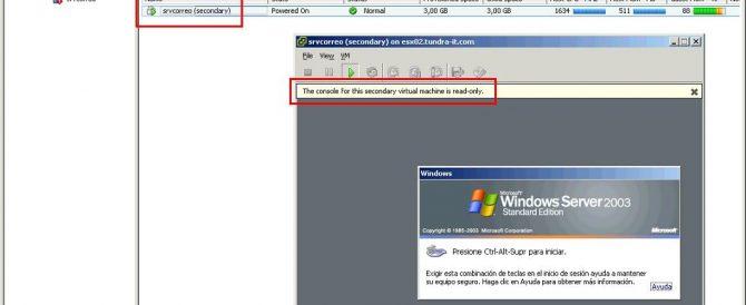 Uso de VMware FT