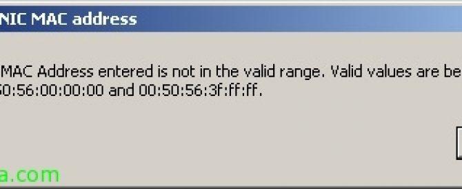 Forzando una dirección MAC en una MV de VMware