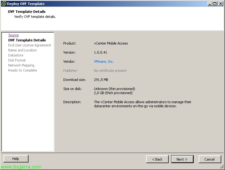 VMware vCenter Mobile Access – VMware vCMA