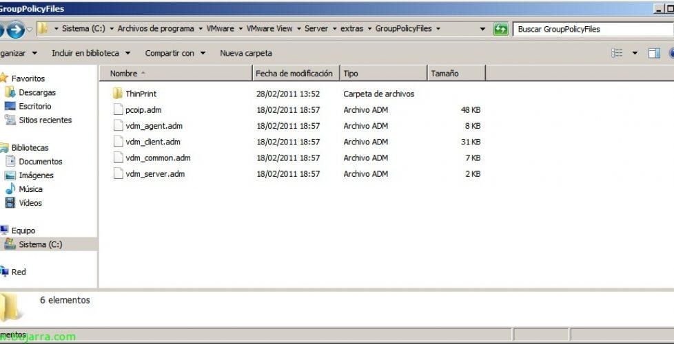 Usando las GPO's de VMware View 4.6