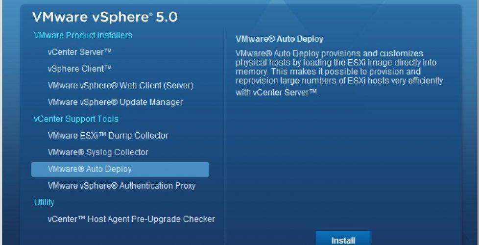 Installation and configuration of vSphere Auto Deploy | Blog Bujarra com