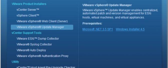 Instalación de VMware vSphere Update Manager 5.0