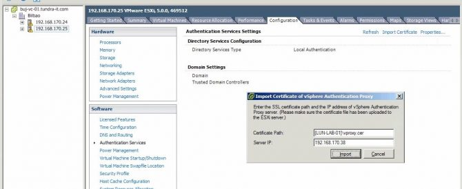 VMware vSphere Authentication Proxy