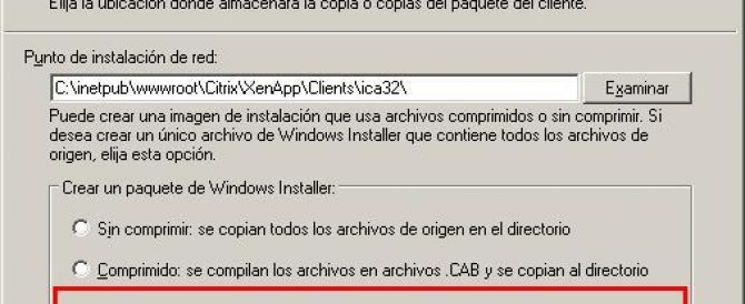 Desplegar el cliente XenApp Plugin personalizado en Citrix Web Interface 5.1