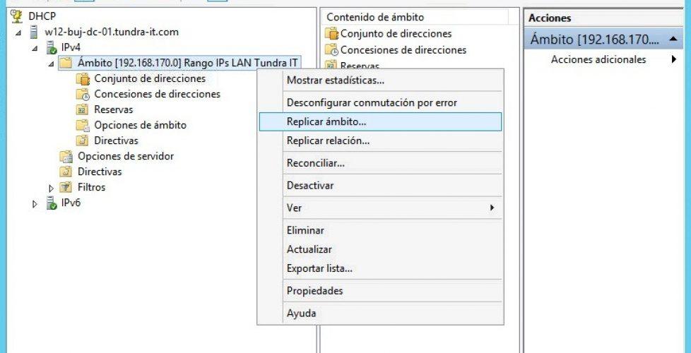 Montando un cluster DHCP de alta disponibilidad en Windows 2012