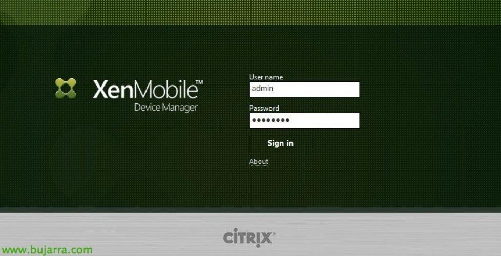 Citrix XenMobile – Gestión de dispositivos