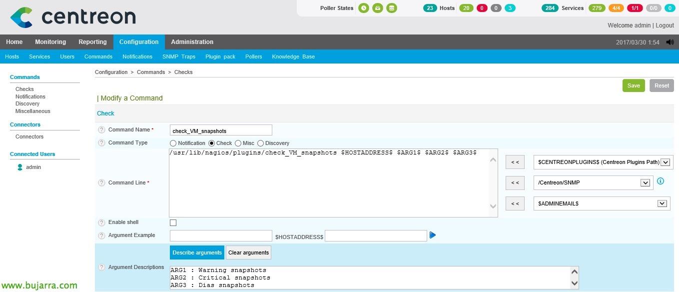 Nagios - Checkeando snapshots in VMware virtual machines