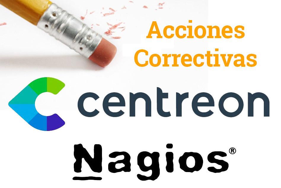 Configurando acciones correctivas en Centreon