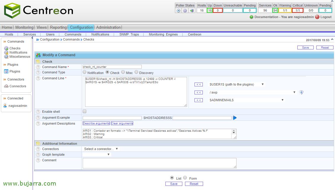 Nagios - Monitoring counters Windows | Blog Bujarra.com