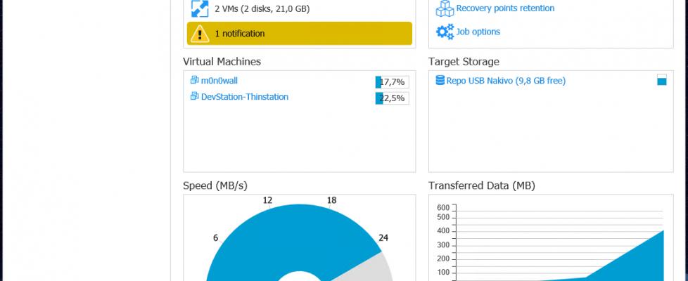 Creando tareas de copia de seguridad en Nakivo Backup & Replication
