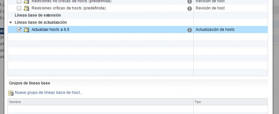 Actualizando hosts con vSphere Update Manager 6.5