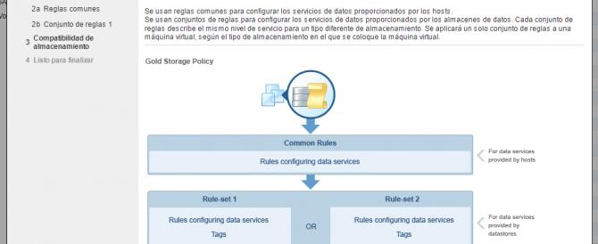 Uso de directivas de almacenamiento en VMware vSphere