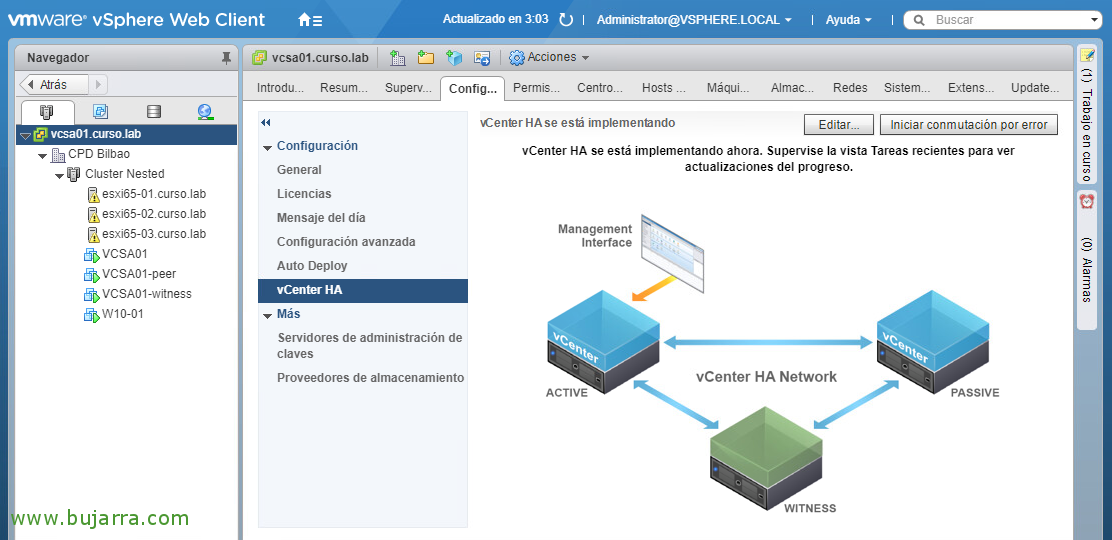 Configurando VMware vCenter Server High Availability