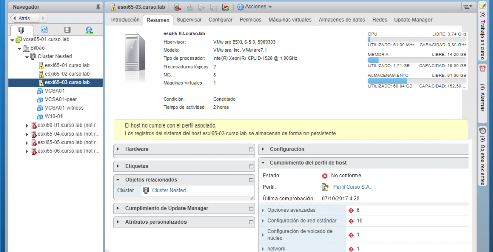 Uso de Host Profiles en vSphere 6.5