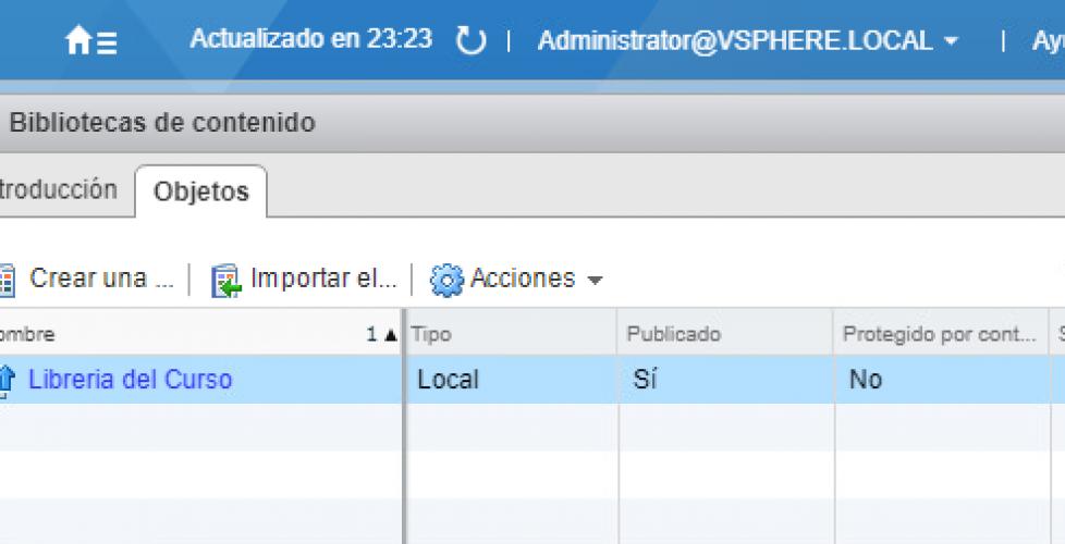 Uso de Bibliotecas de contenido en vSphere 6.5