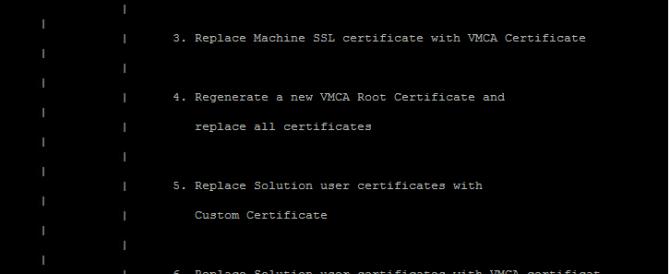 Reemplazando los certificados en vSphere 6.5