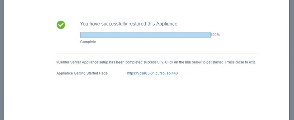 Haciendo copias de seguridad de vCenter Server Appliance