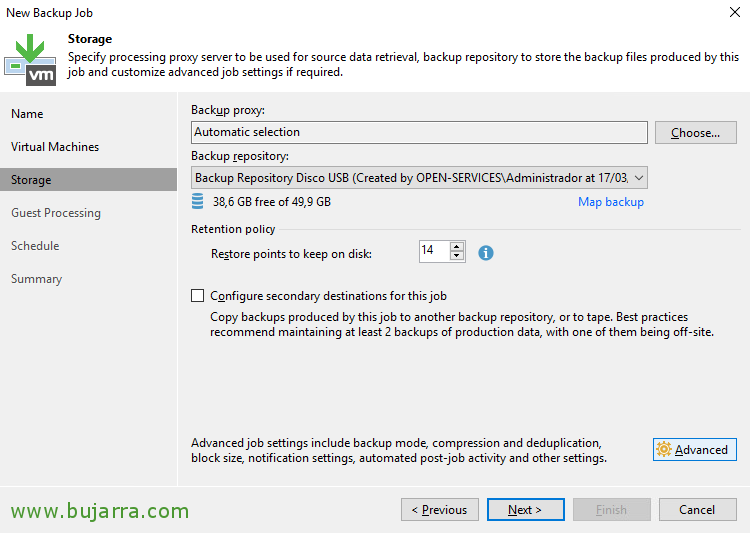 Creating a backup task with Veeam Backup & Replication 9 5