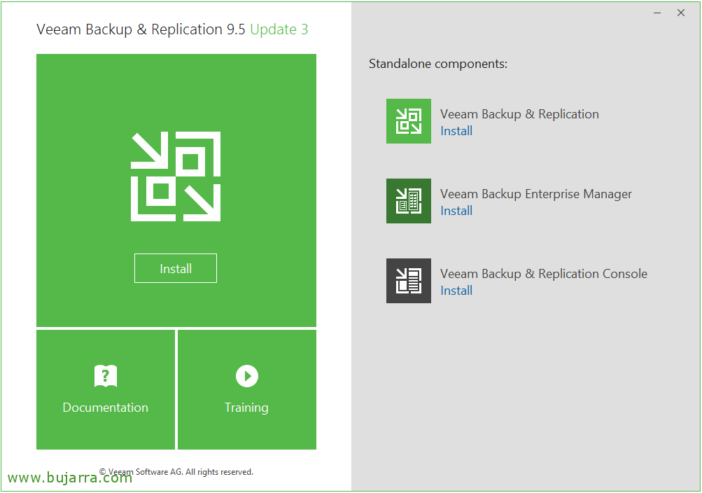 Veeam Backup installation & Replication 9 5 | Blog Bujarra com