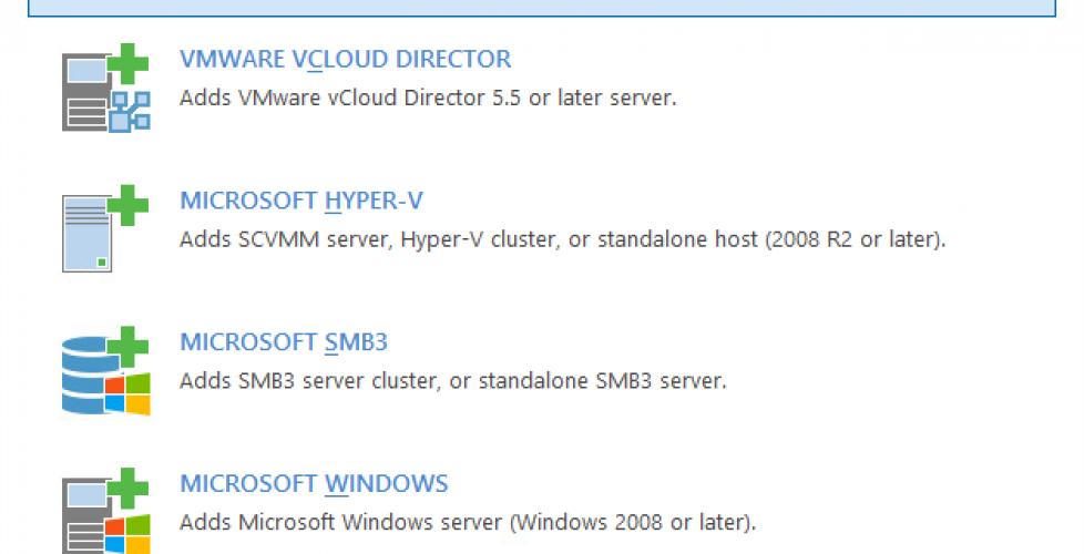 Veeam Backup 9.5 – Añadiendo servidores de infraestructura