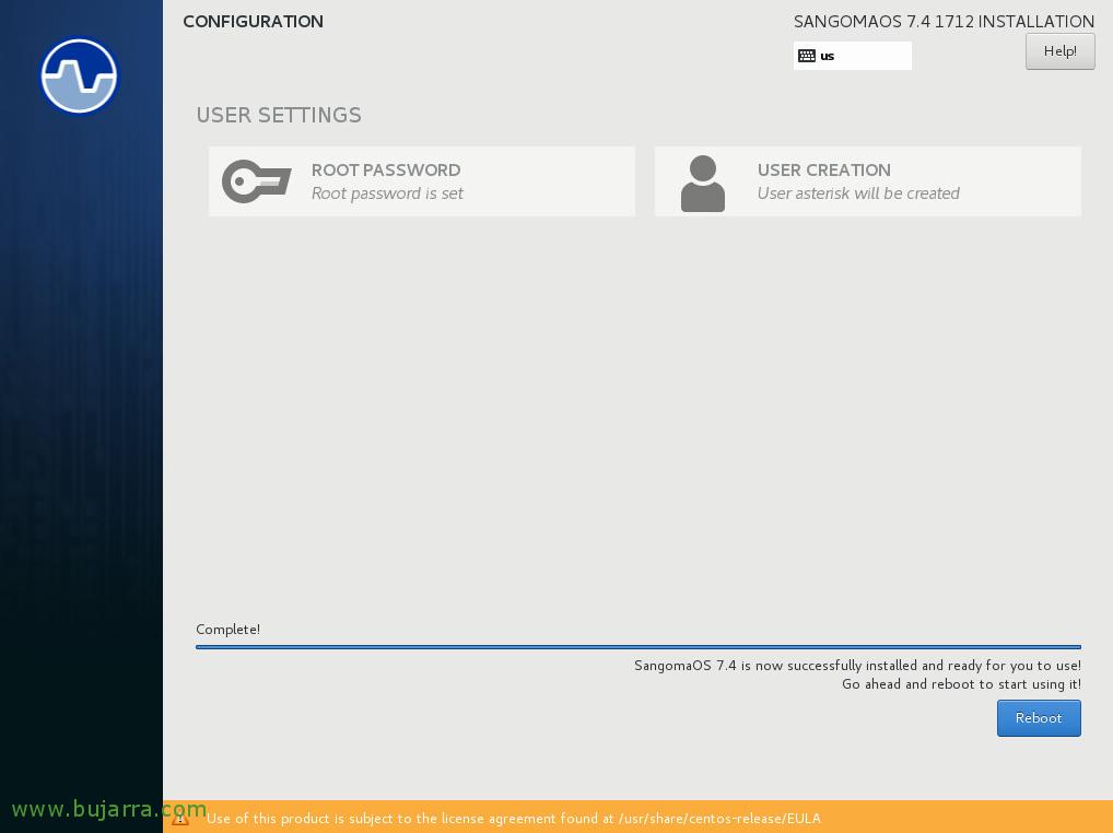 FreePBX installation and basic configuration | Blog Bujarra com
