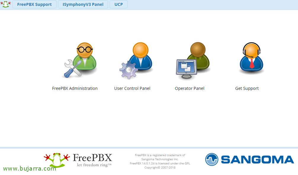 FreePBXのインストールと基本的な設定 | ブログBujarra com