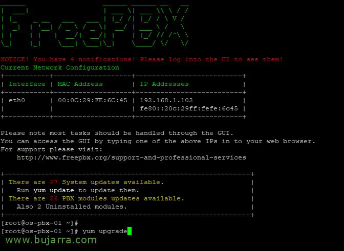 FreePBX installation and basic configuration   Blog Bujarra com