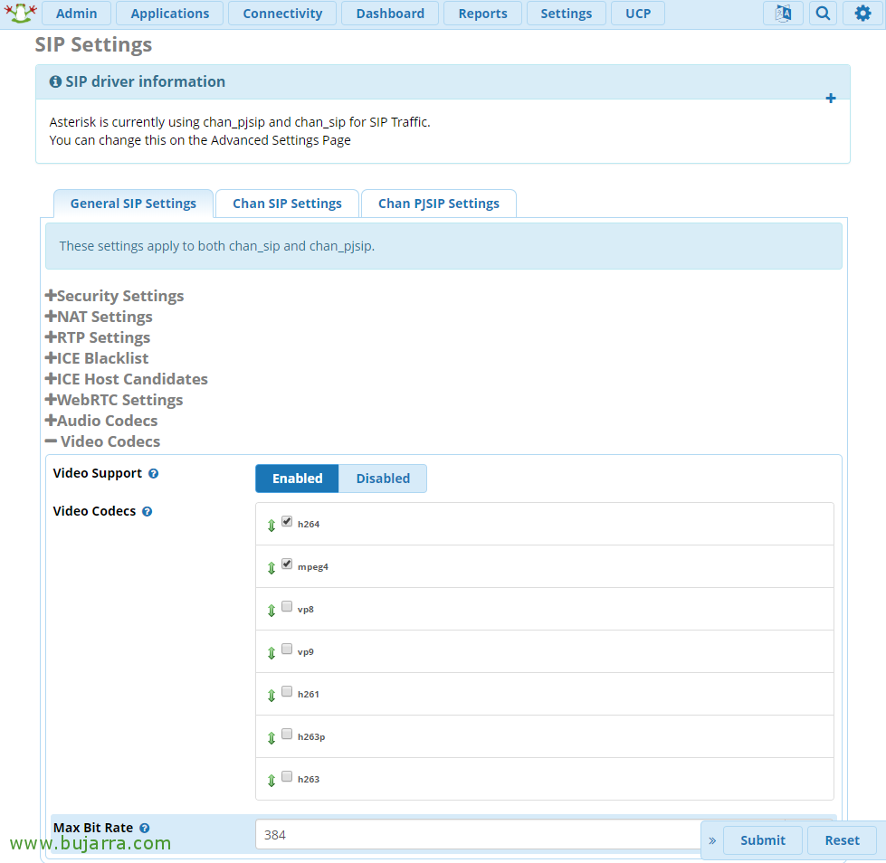 FreePBX installation and basic configuration | Blog Bujarra com