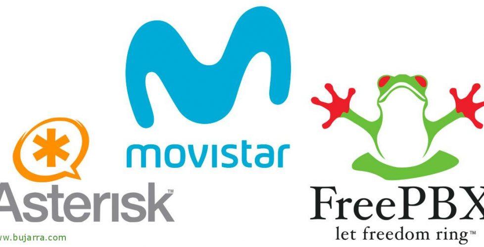 Integrating FreePBX with optical fiber Movistar | Blog Bujarra com