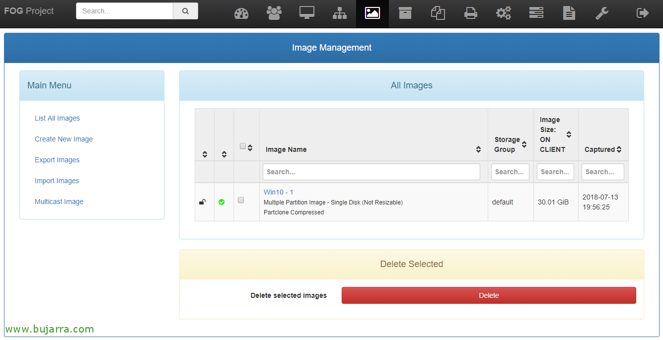 FOG - based Configuracion, generating an image and deployment | Blog