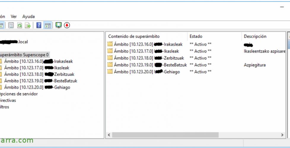 Migrar el servicio DHCP desde Windows 2003 hasta Windows 2016