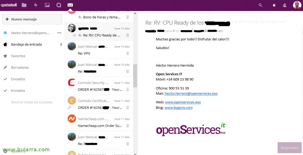 Integrando el correo en Nextcloud