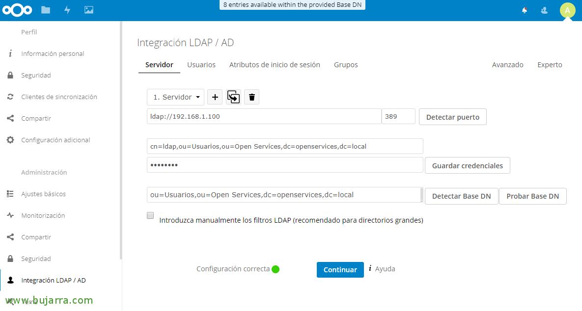Nextcloud integrating with Active Directory | Blog Bujarra com