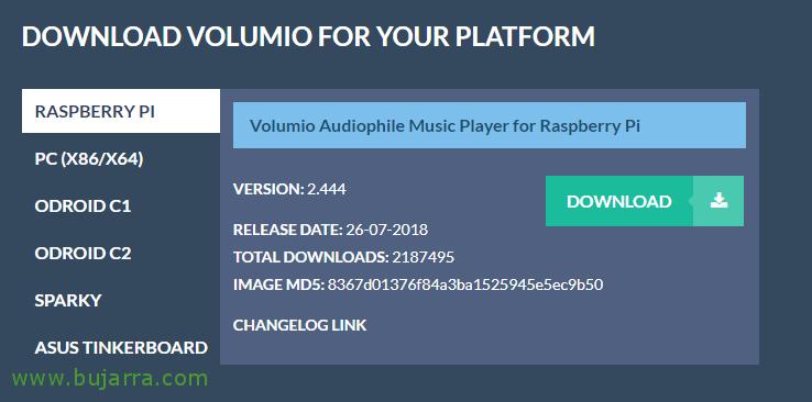 Raspberry pi volumio download