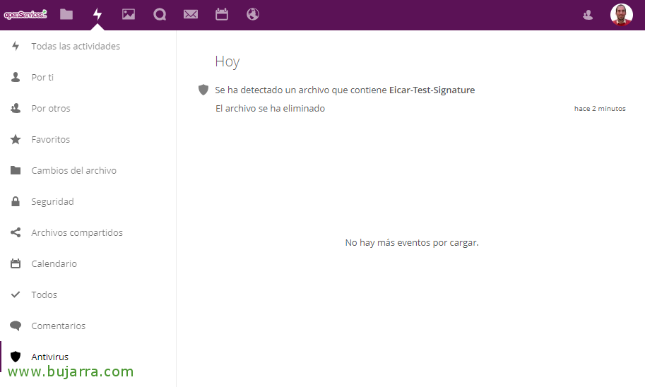 Antivirus protection for our data Nextcloud   Blog Bujarra com