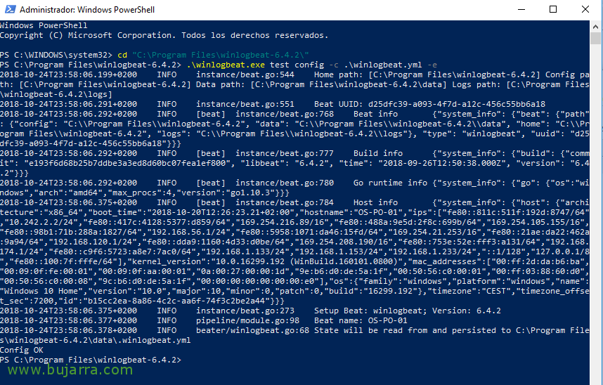 Redirecting events Event Viewer Windows to Elasticsearch equipment